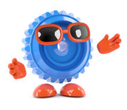 3d Cog with arms outstretched Stock Image