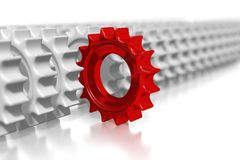 3D COG concept... Horizontal view of cogs against white background - great for many business concepts Stock Images