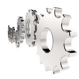 3d cog gear to success as concept. On white Royalty Free Stock Photo