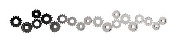 3d cog gear to success as concept Stock Photo