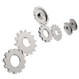 3d cog gear. On white background Royalty Free Stock Photos