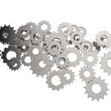 3d cog gear on white. Background Royalty Free Stock Photos