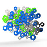 3d cog gear on white background Stock Photos