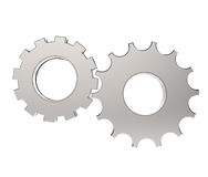 3d cog gear on white background. Concept Stock Photo
