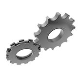 3d cog gear on white background. Concept Stock Photography