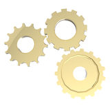 3d cog gear on white background. 3d cog gold gear on white background Stock Photography