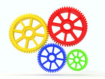 3d  cog icon. 3d colourfull cog icon on white background Stock Photography