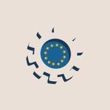 3D cog koło z Europejską zrzeszeniową flaga ilustracja wektor