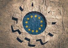3D cog koło z Europejską zrzeszeniową flaga Obrazy Royalty Free