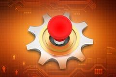 3d cog koło z komputerową myszą Obraz Stock