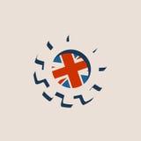 3D cog koło z Brytania flaga Obrazy Royalty Free