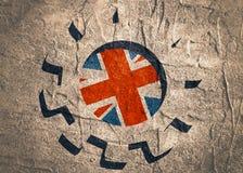 3D cog koło z Brytania flaga ilustracja wektor