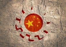 3D cog koło z Chiny flaga royalty ilustracja