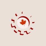 3D cog koło z Kanada flaga royalty ilustracja