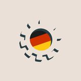 3D cog koło z Niemcy flaga ilustracji