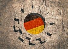 3D cog koło z Niemcy flaga Zdjęcie Stock