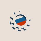 3D cog koło z Rosja flaga ilustracji