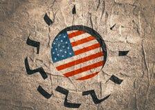 3D cog koło z usa flaga ilustracja wektor