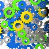 3d cog przekładnia na bielu Zdjęcie Royalty Free