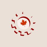 3D cog wheel with Canada flag. Precision machinery relative backdrop Stock Image