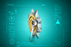 3d cog wheel with key Royalty Free Stock Photography