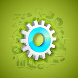 3D cogwheel with business infographic element. Stock Photo