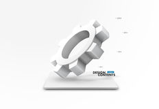 3D cogwheel design Royalty Free Stock Photo