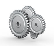 3d cogwheel gears Royalty Free Stock Photos
