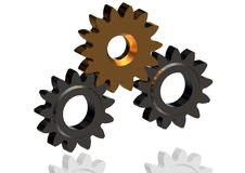 3D Cogwheels – continuous improvement in team Royalty Free Stock Image