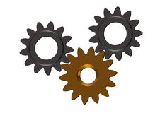 3D Cogwheels  continuous improvement in team Royalty Free Stock Photo