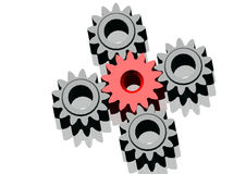 3D Cogwheels – continuous improvement in team Stock Photos