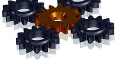 3D Cogwheels - continuous improvement in team Stock Photo