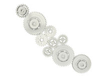 3D cogwheels isolated Stock Image