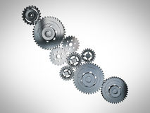 3D cogwheels Stock Photos