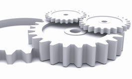 3D cogwheels in white stock illustration