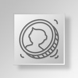 3D coin toss icon Business Concept Royalty Free Stock Photos