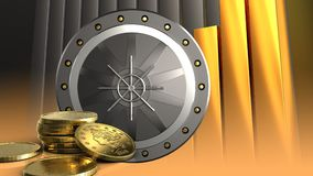 3d coins guld- Arkivbild