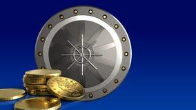 3d coins guld- Arkivfoton