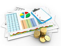 3d coins Royalty Free Stock Photography