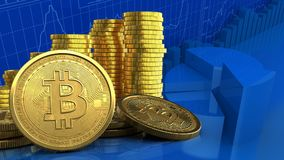 3d of coins stack Stock Images
