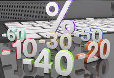 3d collection discount numbers Stock Images