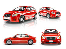 3D Collection of Luxury Red Sports Car Royalty Free Stock Image