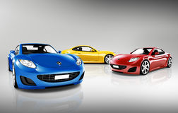 3D Collection of Sport Cars Stock Photography