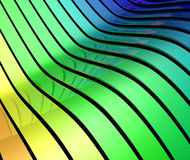 3d color bands Stock Photography