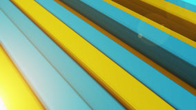 3d color bars. 3d color striped background. Yellow and Blue Stock Images