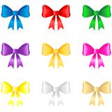 3d color bow set Stock Images