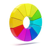 3D color chart Stock Photos