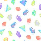 fa95cd94c0e8 3d color detallado realista Crystal Stone Seamless Pattern Background Vector  ilustración del vector