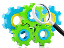 3d Color gears. Business concept Stock Photography