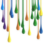 3D color glossy paint drop blobs Stock Photography